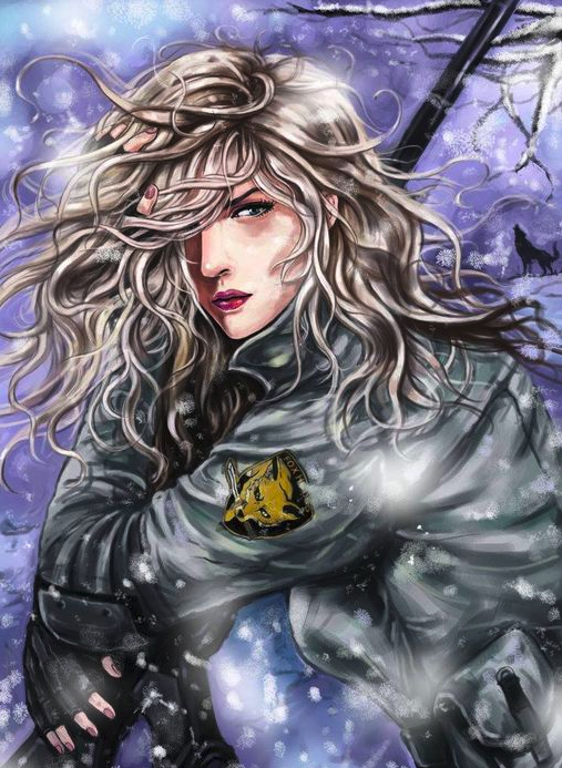 Sniper Wolf hot muscular anime girl characters